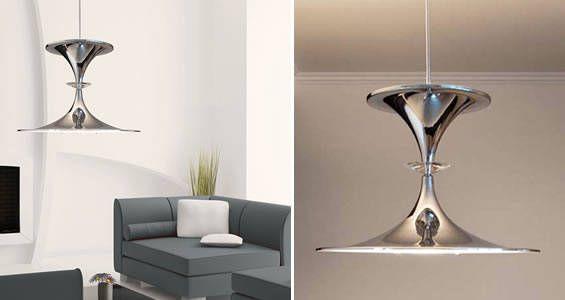 superbe suspension ilfari en forme de sablier qui claire la fois vers le haut et vers le bas. Black Bedroom Furniture Sets. Home Design Ideas
