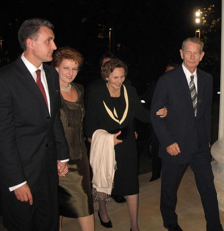 King Michael of Romania, Queen Anne, Princess Margarita of Romania, and Prince Radu.
