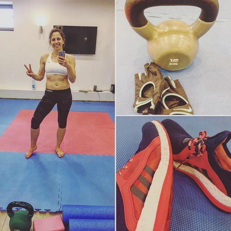 Trening zaliczony  Ćwiczenia z ketlem głównie pośladek i brzuch. Na zakończenie spokojny bieg na bieżni.  Miłego i aktywnego piątku wam życzę #trening #workout #workoutdone #potreningu #fitness #fitgirl #sport #trenerpersonalny #instagram #ınstagirl #inst