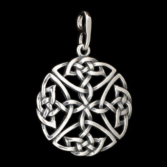 Celtic Knots - STERLING SILVER - (Just the pendant, chains are sold separately.)