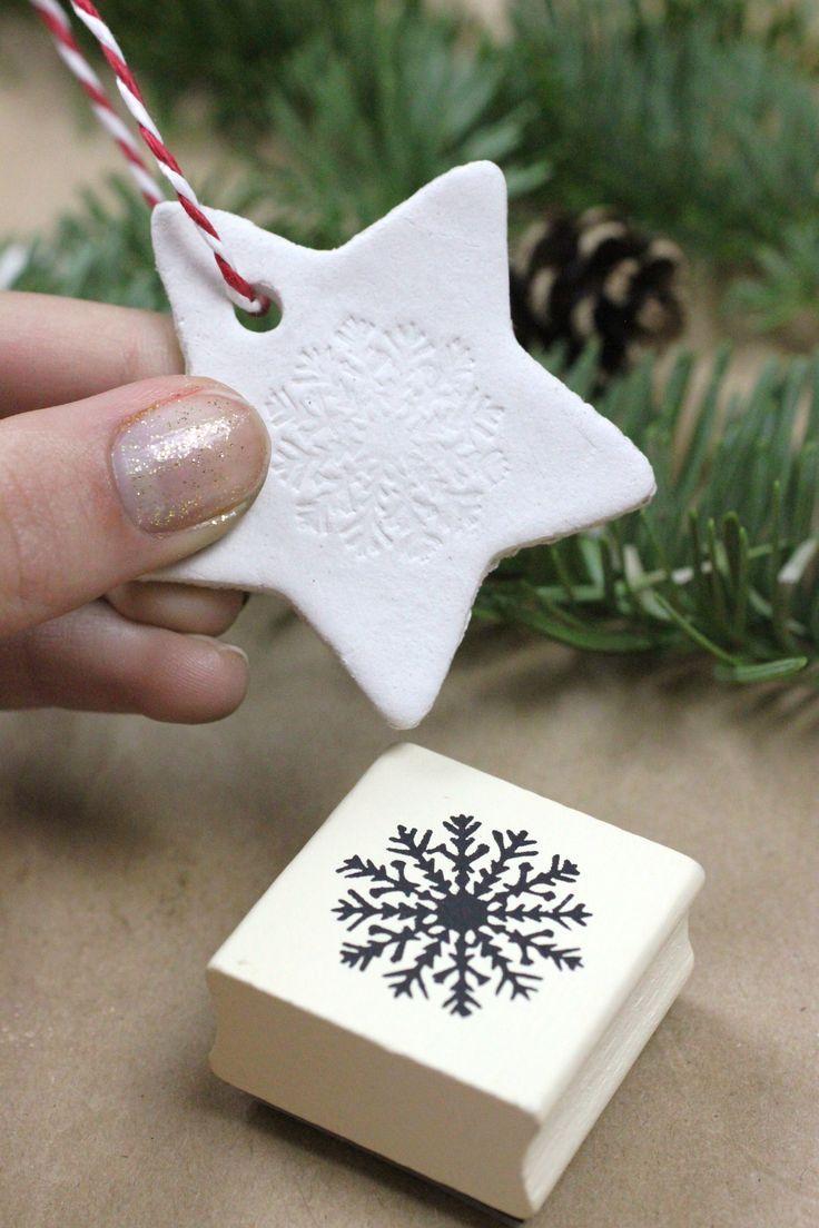 Diy Air Dry Clay Christmas Stars Clay Christmas Decorations Clay Crafts Clay Crafts Air Dry