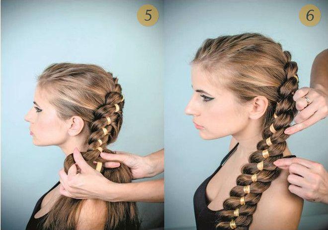 Аккуратно выправляйте пряди, чтобы придать косе объем