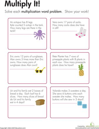 math story problems for 2nd grade