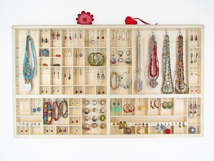 Rangement - Presentoir pour bijoux - Beige