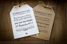 Wedding casella postale firmare Bagagli Tag favore DECORAZIONI VINTAGE / SHABBY CHIC