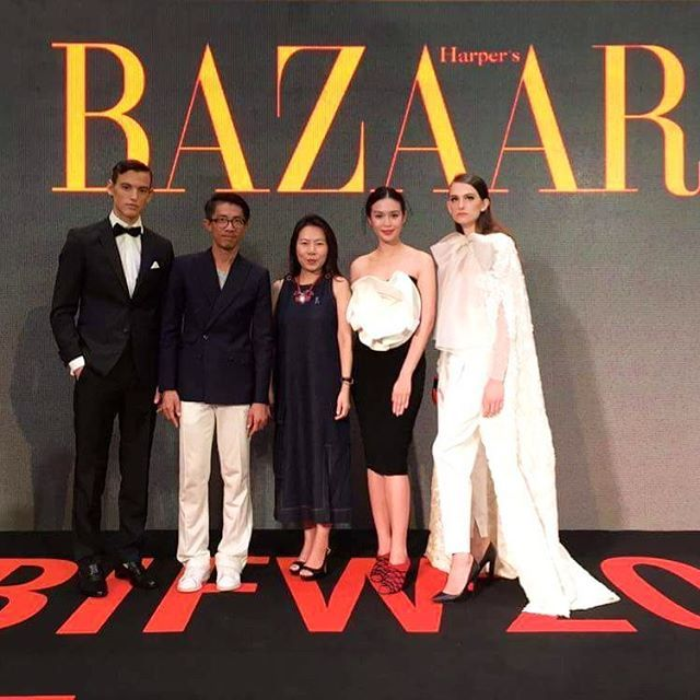"""#HarpersBazaarThailand team at the special talk """"Dress Code"""" for #BIFW2017 during which our editor @duangposh and editorial director @kokonichakul share their tips on mastering the dress code. #bazaarthailand  via HARPER'S BAZAAR THAILAND MAGAZINE OFFICIAL INSTAGRAM - Fashion Campaigns  Haute Couture  Advertising  Editorial Photography  Magazine Cover Designs  Supermodels  Runway Models"""