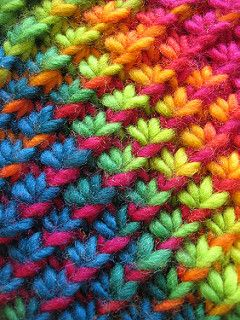 This is based on the star stitch. Gauge doesn't really matter. Vary yarn and needle size to get the fabric you want.