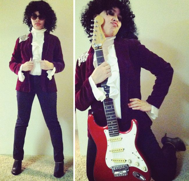 DIY, thrift store, Prince Purple Rain Halloween costume! — Goodwill Omaha