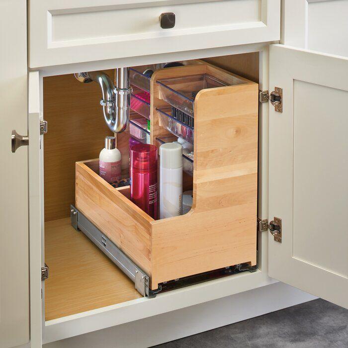 Rev A Shelf Vanity Base Pull Out Drawer Reviews Wayfair Vanity Base Kitchen Storage Kitchen Organization