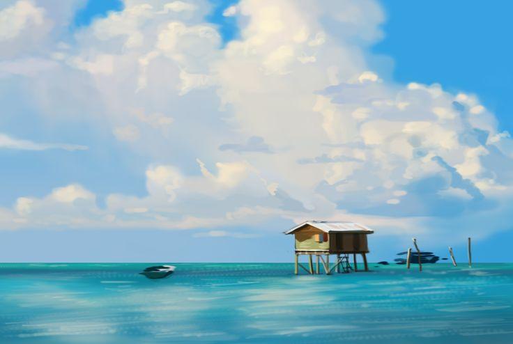 speed painting/Ha Ji Young/40min./cloud and sea