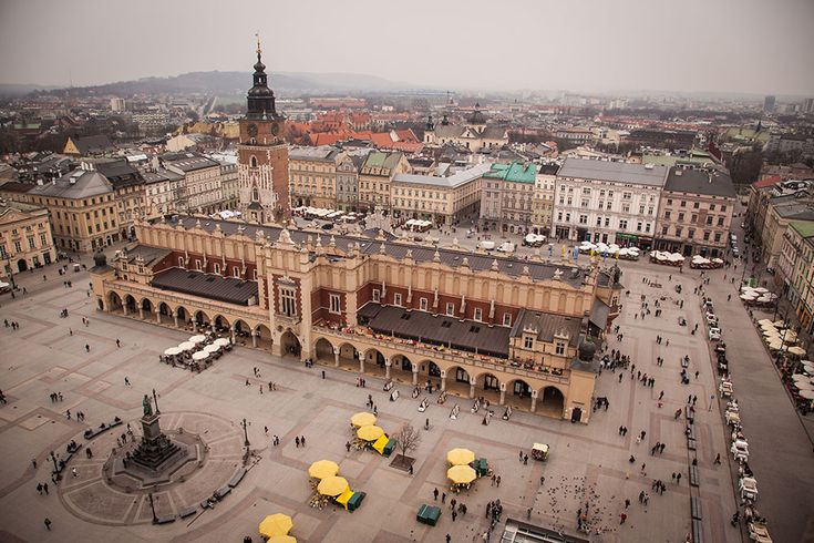 Krakow´s main market square - taken from the tower of St. Mary´s church. Photo: John Einar Sandvand More photos: http://sandvand.net/krakows-fantastic-market-square-and-how-to-get-rid-of-the-crowd/