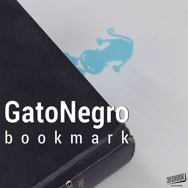 """@3dshookcollections's photo: """"Let this black cat save your page """"be right back"""". Check us out at www.3dshook.com #3dprint #3dmodels #3dprinted #3dprinter #3dprinters #3dprinting #makers #makersgonnamake #PrintEverything #tech #technology #books #booklover #bookworm #bookmark #blackcat #design #fun #cute #3daccessories #gatonegro #backtoschool #backtoschoolshopping"""""""
