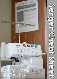 Sewing Mama RaeAnna: Serger Setting Cheat Sheet