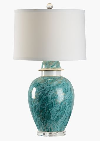 69102 Green Blue Marblized Lamp By Chelsea House * Add Style With Designer Table  Lamps At