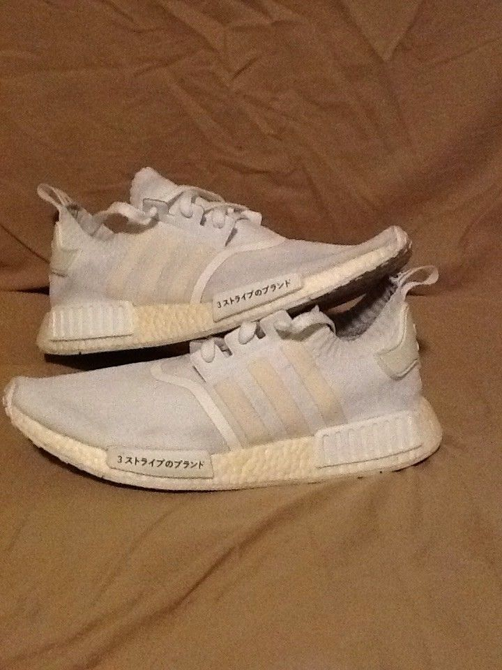 Adidas Nmd Runner Pk Used Size 12 Triple White Japan Boost Bz0221
