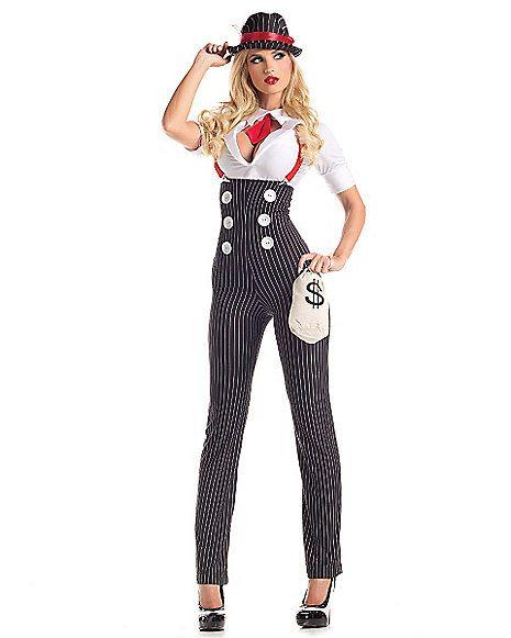 Heist Hottie Gangster Adult Womens Costume - Spirithalloween.com