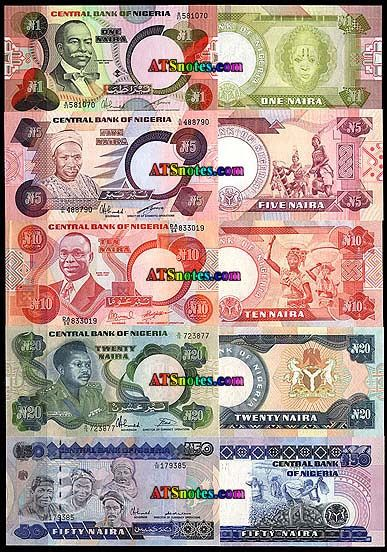 nigeria currency | Nigeria banknotes - Nigeria paper money catalog and Nigerian currency ...