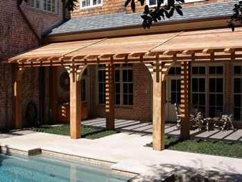 Slant Roof Open Air Pergola For The Home Pinterest