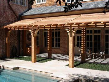 Slant Roof Open Air Pergola For The Home Pinterest
