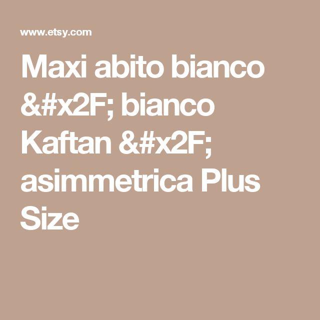 Maxi abito bianco / bianco Kaftan / asimmetrica Plus Size