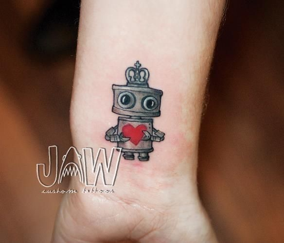 Little Robot tattoo. (One of Milly's tattoos)