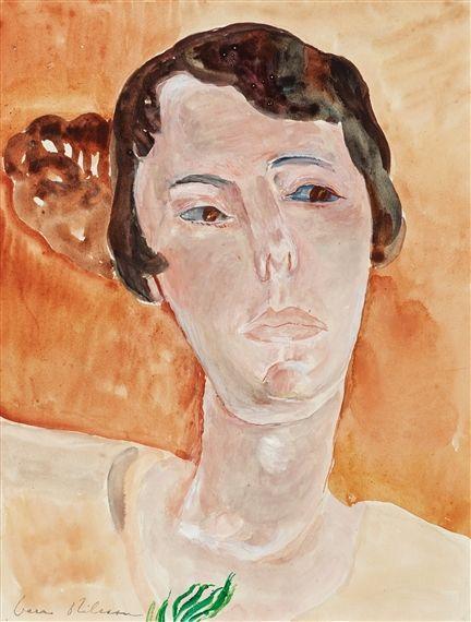 Vera Nilsson - Friend portrait - Stina Elliot; Medium: water colour; Dimensions…