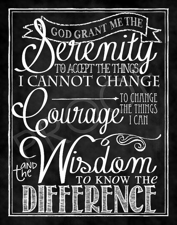 ChalkTypography The Serenity Prayer by ToSuchAsTheseDesigns, $15.00