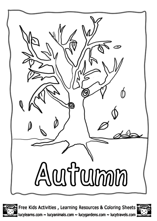 Autumn colouring Pages Fall Lucy