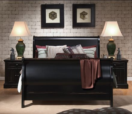 Best Black Sleigh Beds Ideas On Pinterest Sleigh Bed Frame - Sleigh bed design ideas bedroom