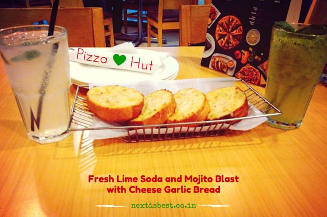 Lime Soda and Mojito Blast pizza hut next is best