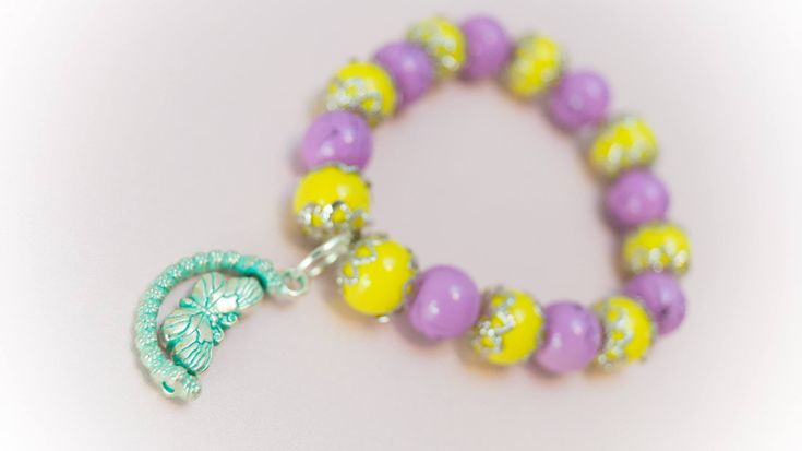 Excited to share the latest addition to my #etsy shop: Bracelet 6 http://etsy.me/2CpOiXB #jewelry #bracelet #purple #yellow #no #women #womanbracelet #handmadebracelet #fashionbracelet