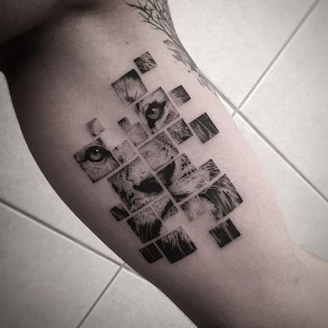 Idée pas mal et style de dessin pas mal aussi ! #Tattoo by @balazsbercsenyi