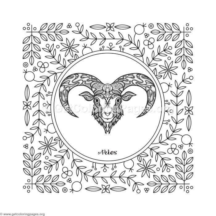 Free Instant Download Aries Zodiac Element Coloring Pages Coloring Coloringbook Coloringpages Zodiacsigns Coloring Pages Free Coloring Pages Zodiac Art