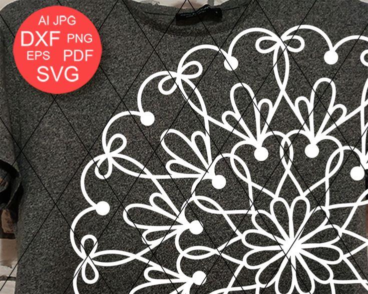 Download Mandala svg Love sign Hearts clip art Mandala wall art ...