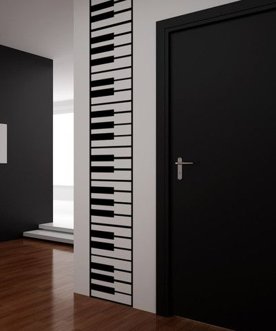 Vinyl Wall Decal Sticker Piano Keys #OS_MB887   Stickerbrand wall art decals, wall graphics and wall murals.