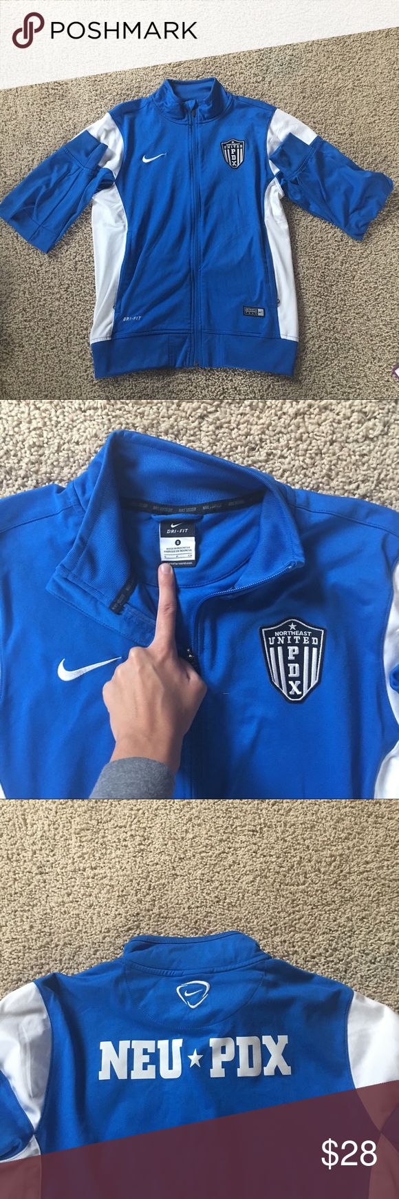 Men's Nike Pdx Zip Up Jacket Northeast united pdx blue and white Nike zip up jacket, dri-fit, Nike authentic team, MAKE AN OFFER Nike Sweaters Zip Up