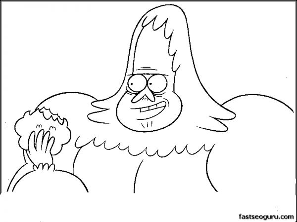 Print Out Skips Regular Show Coloring Pages