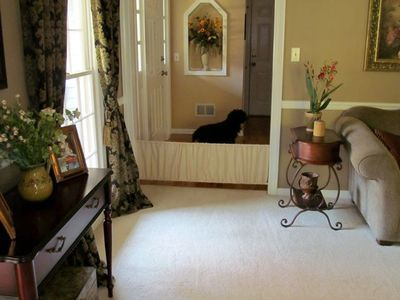 DIY Pet Barrier -- make a stylish barrier to show off and to show that you love your pets!