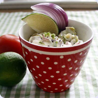 Tomarsalat med avokado og lime