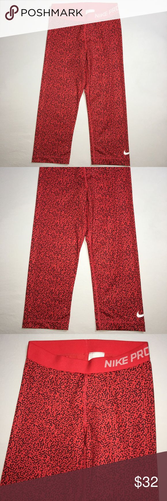 Red Nike capris In good condition Nike Pants Capris