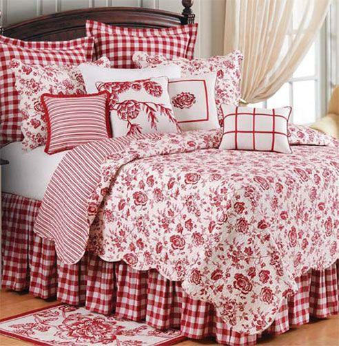 Devon Cranberry By C & F Luxury Quilts At Bedding Super