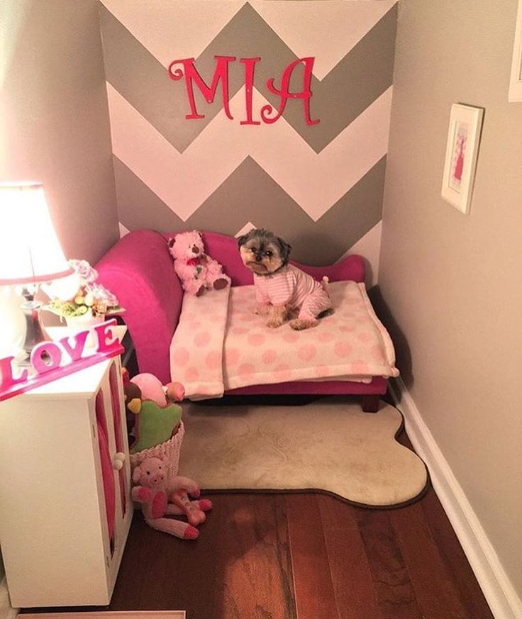 Custom Dog Corner Dogs Dogbed Diy Petspaces Dog Bedroom Puppy Room Dog Rooms