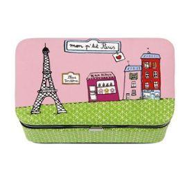 Ma p´tite boite à bijoux. J'aime bien le motif avec la Tour Eiffel mais ce n'est pas la plus sympa de ce type de boite chez DLP... J'aurais du prendre autre chose avec ce motif... Les options ne manquent pas !