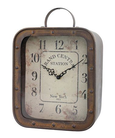 Another great find on #zulily! Grand Central Station Rustic Tabletop Clock #zulilyfinds