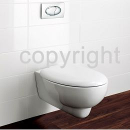 Bauhaus Wisp Wall Hung Toilet with Soft Close Seat