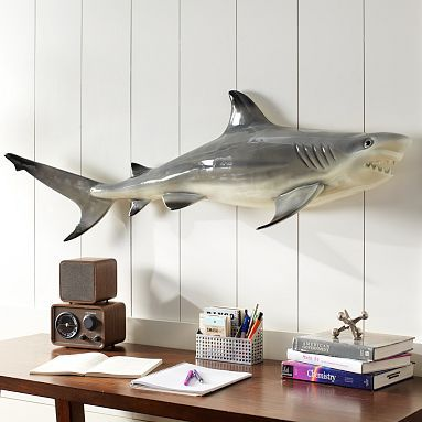 Novelty Shark.  This would be fun in a surf theme bathroom.