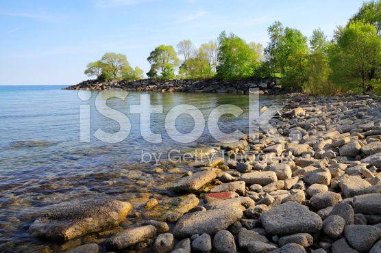 Lake Ontario Beach royalty-free stock photo