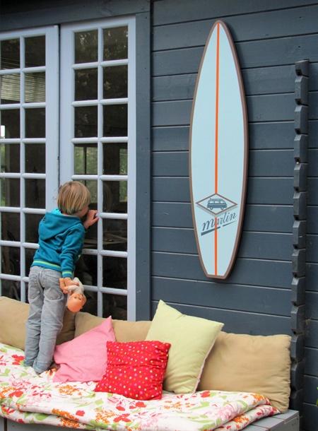 Les 25 meilleures id es de la cat gorie d coration de planche de surf sur pin - Decoration surf chambre ...