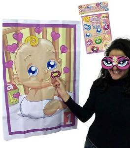 PIN THE Dummy ON THE Baby Shower Party Game UP TO 12 Players BOY Girl Unisex | eBay