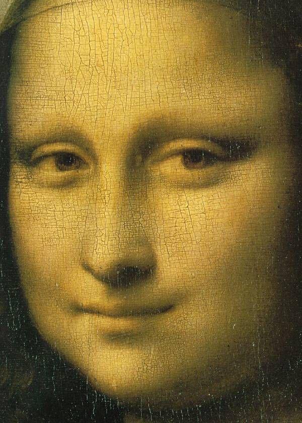 Лицо Моны Лизы (Джоконды). Картина Леонардо да Винчи